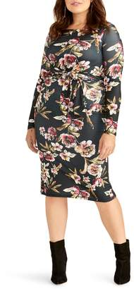 Rachel Roy Tie Waist Long Sleeve Dress