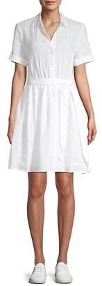 Frame Striped Linen Shirtdress