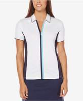 Callaway Colorblocked Half-Zip Golf Polo