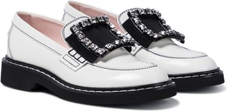 Roger Vivier Viv' Rangers Strass Stitch leather loafers