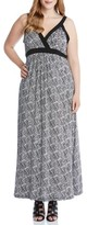 Karen Kane Plus Size Women's Banded A-Line Maxi Dress
