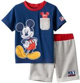 Disney Disney's Mickey Mouse Baby Boy Graphic Tee & French Terry Shorts Set