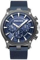 Police Taman Men's Blue Stainless Steel Mesh Bracelet Watch