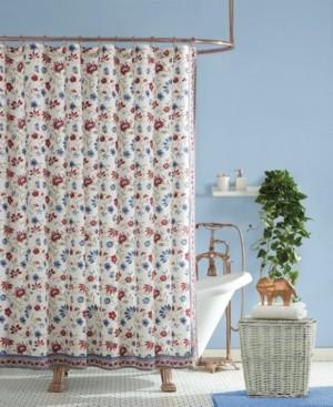 Jessica Simpson Galieri Lined Cotton Shower Curtain Bedding