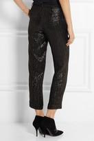 Kate Moss for Topshop Metallic jacquard straight-leg pants