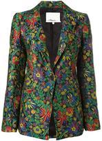 3.1 Phillip Lim floral cloqué blazer - women - Silk/Polyamide/Polyester/Viscose - 0