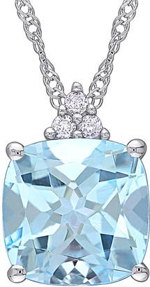 Rina Limor Fine Jewelry 10K 2.53 Ct. Tw. Diamond & Sky Blue Topaz Pendant Necklace