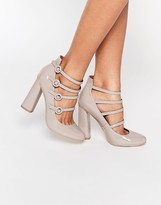 London Rebel Strappy Heeled Shoes