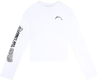 Fenty Knotted back printed T-shirt