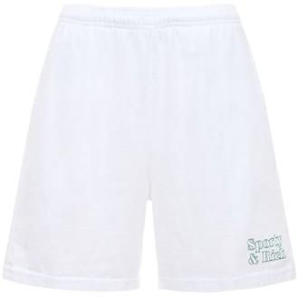 Sporty & Rich Asics Collab Cotton Sweat Shorts