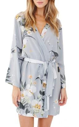 Plum Pretty Sugar Floral Print Short Robe