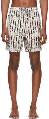 Liam Hodges White and Multicolor Boardies Edition Light Premium Swim Shorts