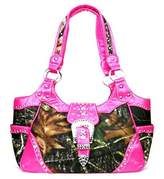 HBM Western Pink Camouflage Buckle Concealed Purse