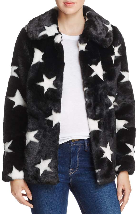 Aqua Faux-Fur Star Coat - 100% Exclusive