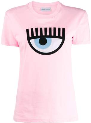 Chiara Ferragni embroidered signature eye T-shirt