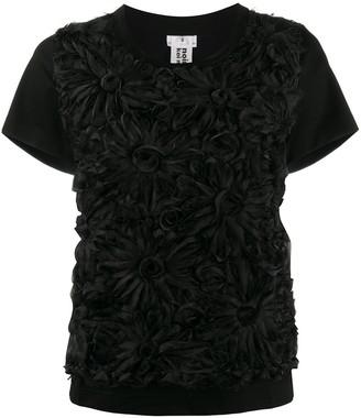 Comme des Garcons floral appliqué T-shirt