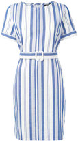 A.P.C. striped belted dress - women - Cotton - 36