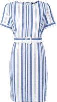 A.P.C. striped belted dress - women - Cotton - 36