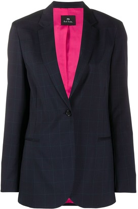 Paul Smith Checked Tailored Blazer