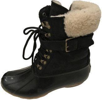 Sperry Black Leather Boots