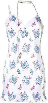 Area Floral-Print Slip Dress