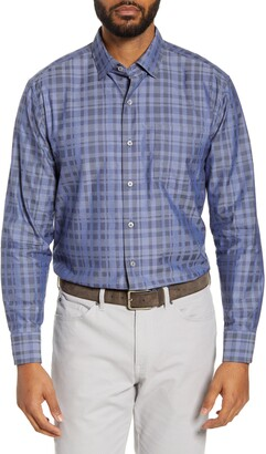Tommy Bahama Plaid Cotton & Silk Button-Up Shirt