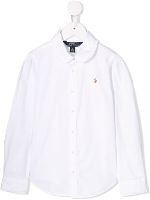 Ralph Lauren Kids ruffled collar shirt