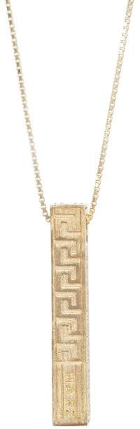 März 14K Gold Plated Sterling Silver Greek Key Pillar Pendant Necklace