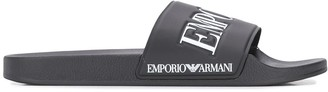 Emporio Armani Logo Pool Slides
