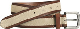 Johnston & Murphy Leather-Trimmed Suede Belt