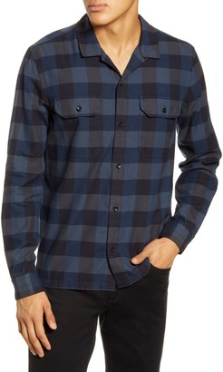 BHLDN Guetes Sim Fit Plaid Button-Up Flannel Overshirt