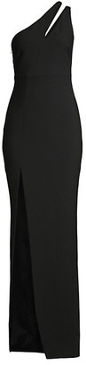 LIKELY Roxy One-Shoulder Column Gown