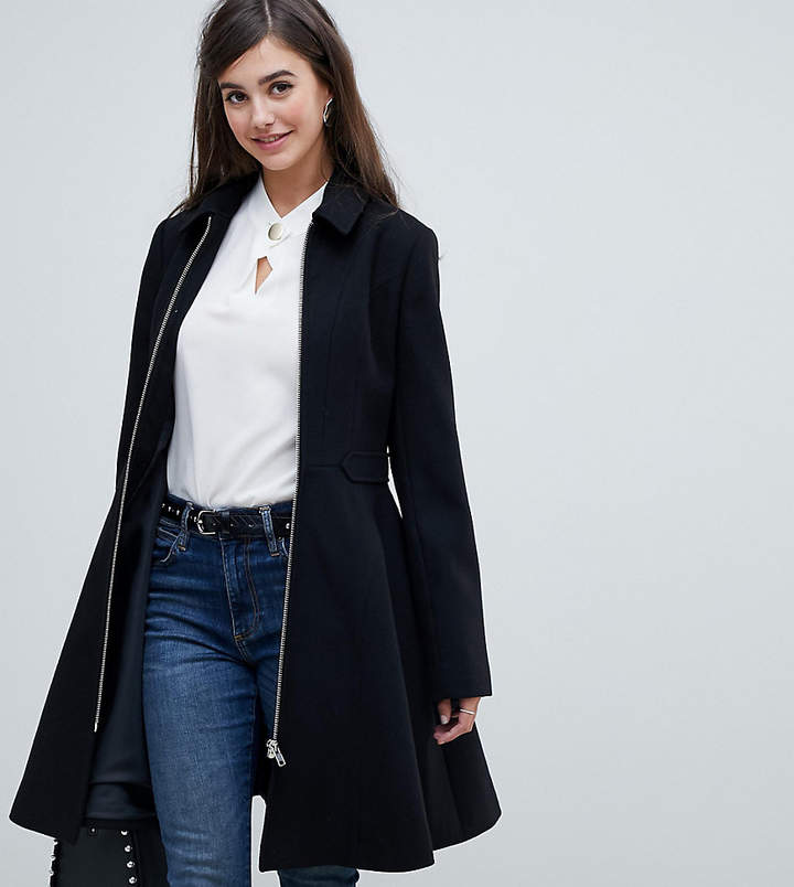 Asos Tall DESIGN Tall swing coat with zip front