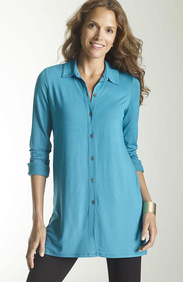 J. Jill Wearever button-front tunic