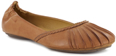 Chocolat Blu Camel Leather Carissa Flat