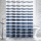 Crate & Barrel Hampton Blue-White Striped Shower Curtain