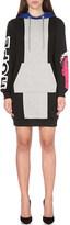 Moschino Mini hoodie cotton-jersey dress