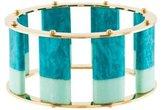 Lele Sadoughi Stone Bangle Bracelet