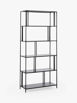 west elm Profile Wide Bookcase, Antique Brass