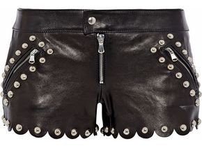 RED Valentino Studded Leather Shorts