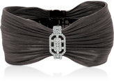 LeVian Le Vian© Red Carpet Diamond Bangle Bracelet (7/8 ct. t.w.) 14k White Gold and Black Ion-Plated Stainless Steel