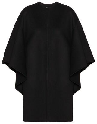 Valentino Wool-Cashmere Cape Coat