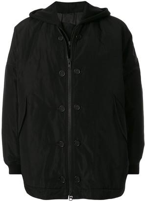 Yohji Yamamoto Layered Hooded Jacket