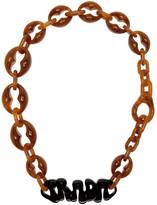 Prada Brown Logo Chunky Necklace