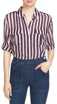 Equipment 'Major' Stripe Silk Shirt