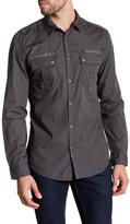 Calvin Klein Jeans Military Double Zip Trim Fit Shirt