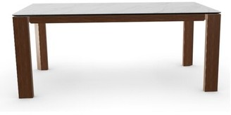 Calligaris Omnia Extendable Dining Table Base Color: Lead Gray, Top Color: Graphite