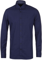 Hackett Brompton Navy Dyed Slim Fit Oxford Shirt