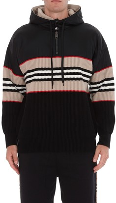 Burberry Icon Stripe Ribbed Hoodie