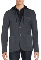 ProjekRaw Knitted Cotton-Blend Blazer